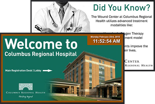 Healthcare Digital Signage Columbus Regional Hospital