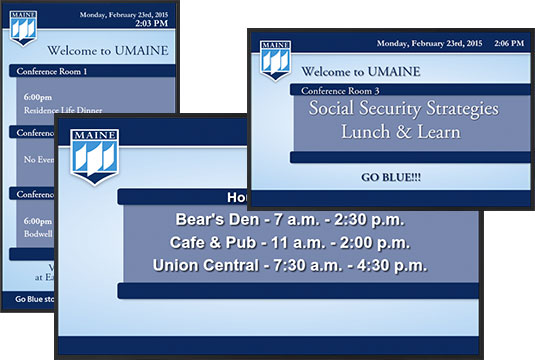 Digital Signage University of Maine