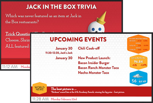 digital signage jack in the box
